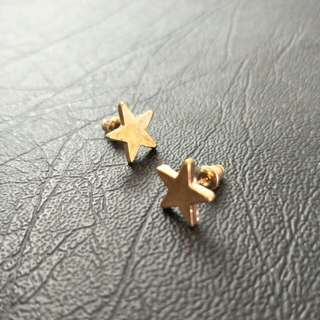 NEW Gold Star Stud Earrings - simple, festive, basic