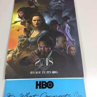 🚚 HBO 2018海報桌曆繪圖年曆 lalaland知名電影畫報 實用質感兼具