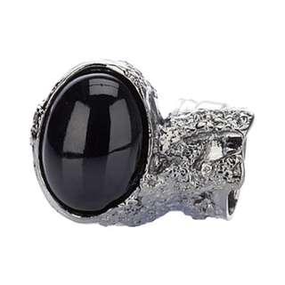Yves Saint Laurent (YSL) Arty Ring Silver Black Mix