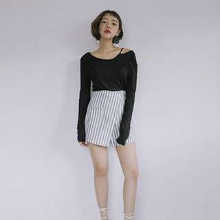 Stylenanda 條紋褲裙 新