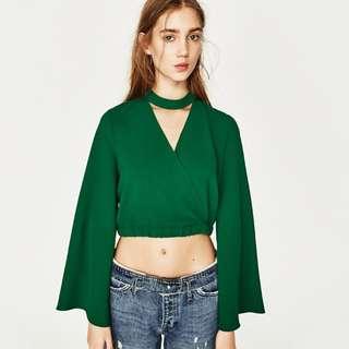 Zara Belled Sleeve Top