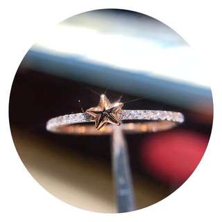 18k金鑽石排戒