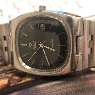【古董歐米茄】♎️Vintage 1970's OMEGA Seamaster TV Face Black Dial Watch