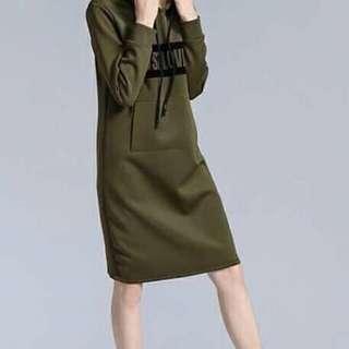 (NC-47) Hoodie Dress