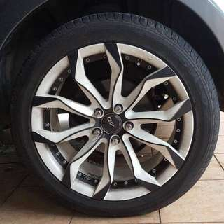 18' RIM with tyres