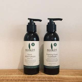 Sukin Facial Cleanser and Moisturiser
