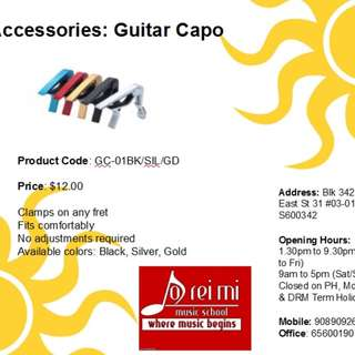 Guitar Capo - GC-01 BK/GD/SIL