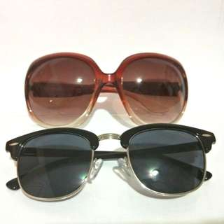 Pack of 2 Classic Retro Sunglasses