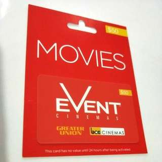 🆕 $50 Event Cinemas Gift Card