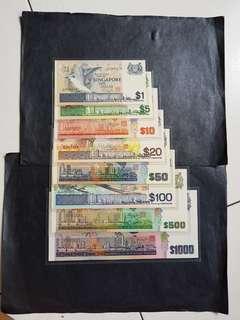 鸟系列  $1一$1000  AU/UNC
