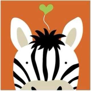 Canvas Art for Children (Zebra)