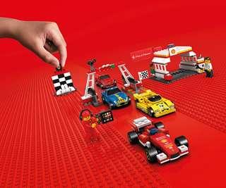 Brand New 7x Shell Lego Ferrari Collection 40190 40191 40192 40193 40194 40195 40196
