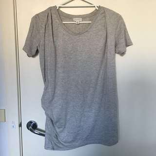 Witchery grey gray tee t Shirt tunic