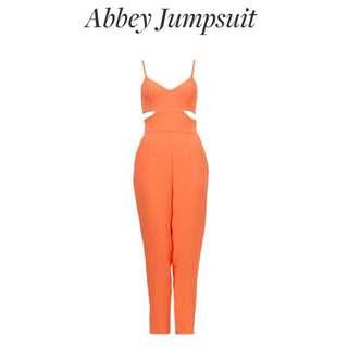Kookai orange jumpsuit