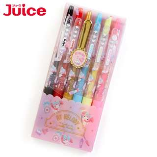 Japan Sanrio My Melody Gel Ink Ballpoint Pen 【JUICE】 6 Color Set (Happiness Girl)