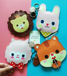 Forest Animals II Coin Pouches