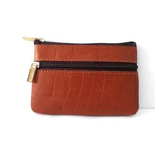 Mini small 2 compartment zip pouch