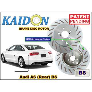 "AUDI A6 disc rotor KAIDON (Rear) type ""BS"" / ""RS"" spec"