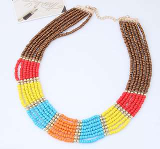 (PO) Multicolours Seed Beads Necklace 49057