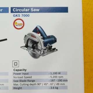 Bosch Circular Saw GKS7000