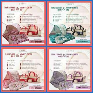 🆕 SET JIMAT TILAM KELAMBU BULAT + MOMMY BAG 5 IN 1