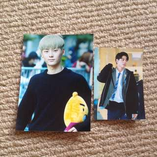 WANNA ONE Hwang Minhyun & Ong Sungwoo Fan site Photocards