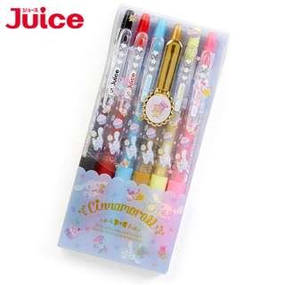 Japan Sanrio Cinnamoroll Gel Ink Ballpoint Pen 【JUICE】 6 Color Set (Happiness girl)