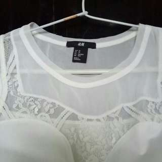 #cintadiskon H&M TANK TOP WHITE PUTIH