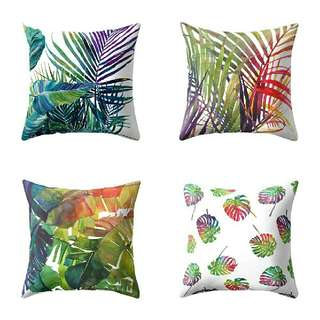TROPICAL PILLOW CASE CUSHION COVER PILLOW COVER