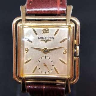 Vintage 1950's 10k gold LOGINES Manual movement  watch 好特別的表身同表耳款,難得一見的懷舊款式。
