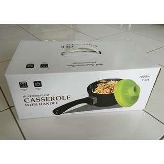 16cm Casserole pot with handle- ceramic