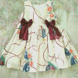 Batik dress for little girl