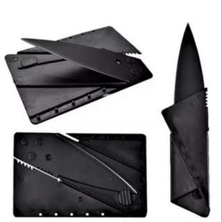 Foldable Credit Card Knife // Fits in your wallet