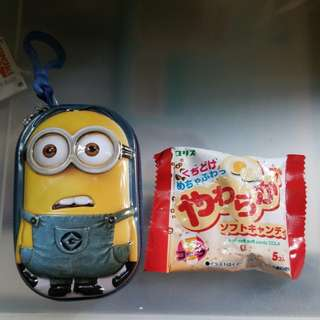 Despicable me zipper tin &零食