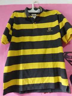 Polo tshirt nevada black yellow