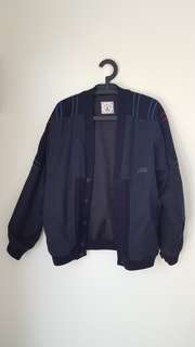 Vintage button-up bomber jacket - S-M