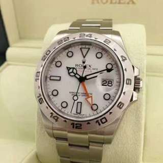 Brand New ROLEX Professional Explorer- II 42MM Automatic Dual Time Stainless steel Watch. Swiss made. Ref model : 216570 ( White )