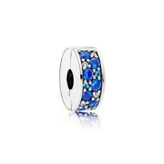 Pandora Blue Mosaic Elegance Safety Clips