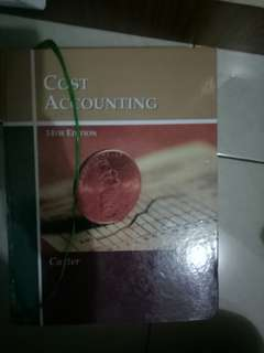 COST ACCOUNTING CARTER NEWEST EDITION
