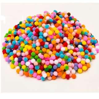 Small & Mini Decorative Ball Pom Pom (Craft Supplies )