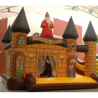 USED - Commercial Inflatable Bouncer House : Jungle Wonderland + Electrical Air Blower
