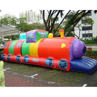 USED - Commercial Inflatable Bouncer House : TuTu Train + electrical Air Blower