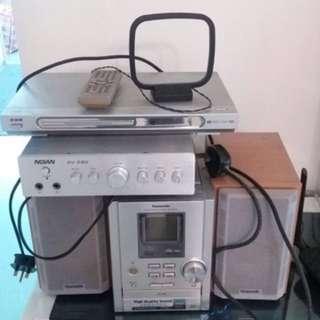 Panasonic 樂聲 音響組合 audio hifi cd機 收音機
