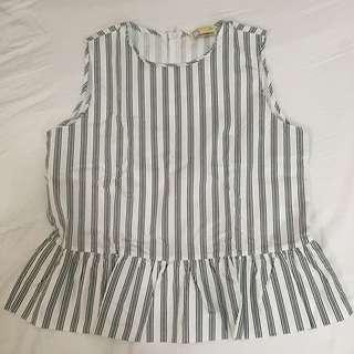 BENCH sleeveless striped top