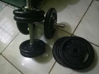Dumbell / 4pcs.  5lbs.  and 4pcs.  10lbs.  plate