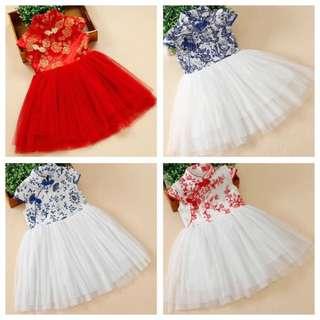 CNY dress CNY clothes cheongsam dress kids dress Chinese qipao kids qipao