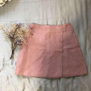 Korean Blush Pink A Line Skirt