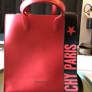 Givenchy stargate small tote bag Red