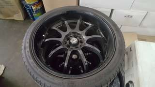 "Advan Racing RS-D 18"" Replica/tyres"
