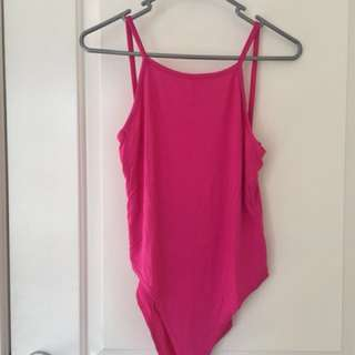 Brand new boohoo pink bodysuit w/ tags